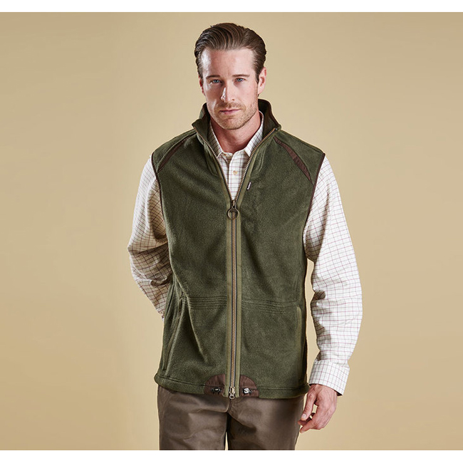 Barbour Men LANGDALE GILET Olive Sale
