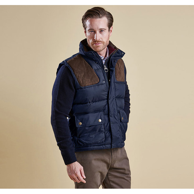 Barbour Men COLWARMTH QUILTED GILET Navy Sale
