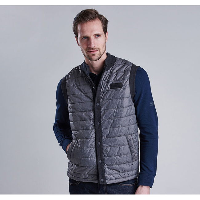 Barbour Men B.INTL BAFFLE GILET Charcoal Sale
