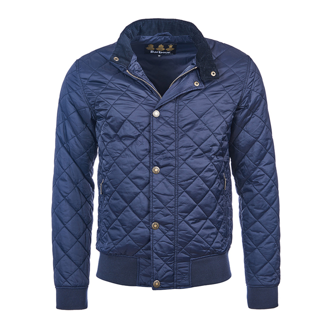 Barbour Men MOSS QUILTED JACKET Navy Sale