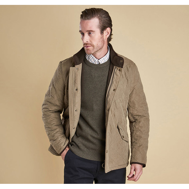 Barbour Men BOWDEN QUILTED JACKET Light Olive Sale