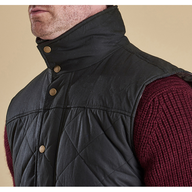 Barbour Men BOXLEY QUILTED GILET Olive Sale