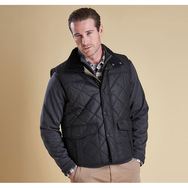 Barbour Men BOXLEY QUILTED GILET Black Sale