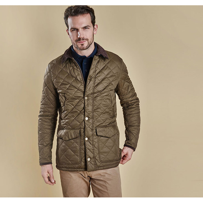 Barbour Men CANTERBURY QUILTED JACKET Olive Sale