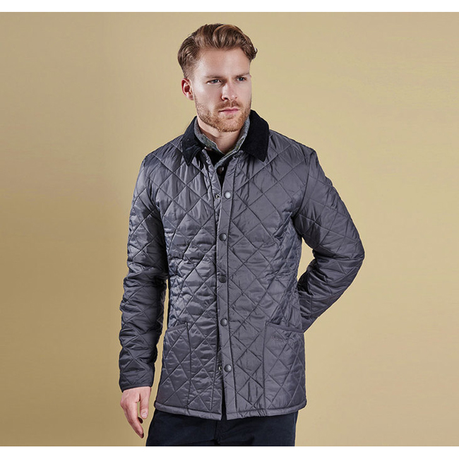 Barbour Men HERITAGE LIDDESDALE QUILTED JACKET Charcoal Sale