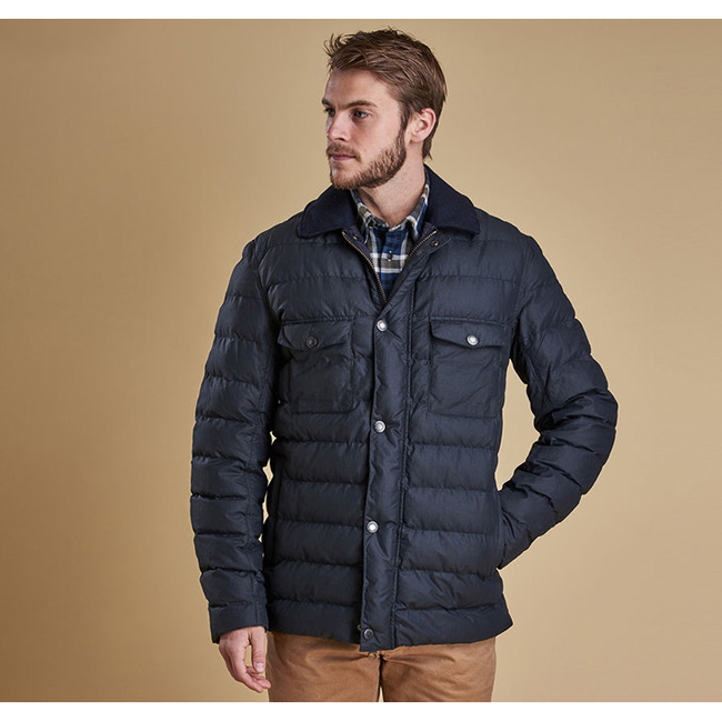 Barbour Men BENTHOS QUILTED JACKET Navy Sale