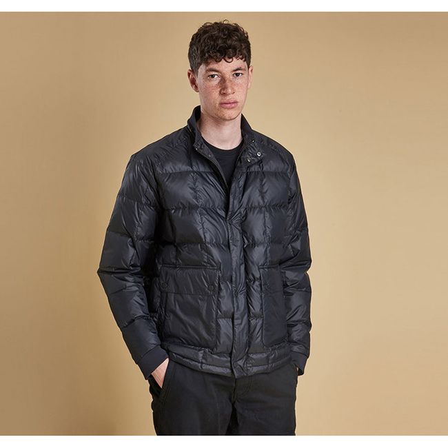 Barbour Men SIX BELL QUILTED JACKET Black Sale