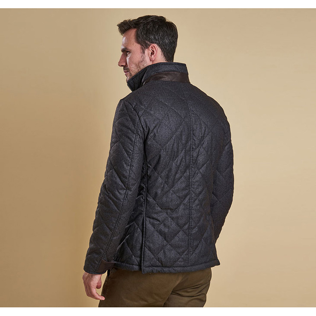 Barbour Men FILEY QUILTED JACKET Dark Charcoal Sale