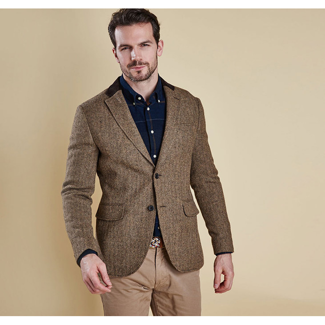 Barbour Men STANBURY TAILORED JACKET Sand Sale