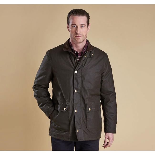 Barbour Men GUILLEMOT WAX JACKET Olive Sale