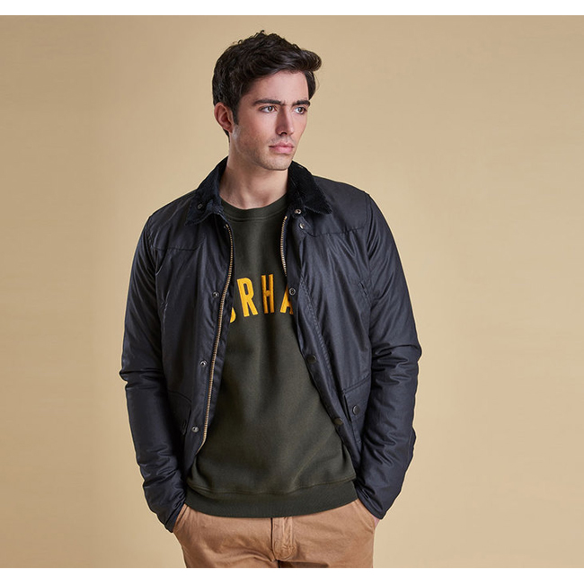 Barbour Men REELIN WAX JACKET Navy Sale