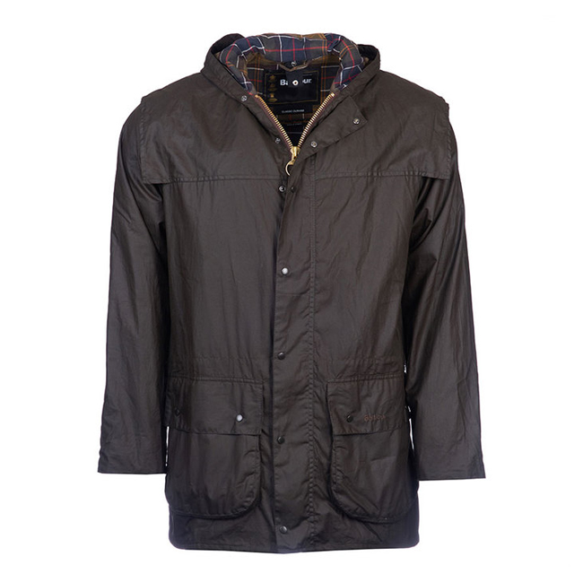 Barbour Men CLASSIC DURHAM WAX JACKET Olive Sale