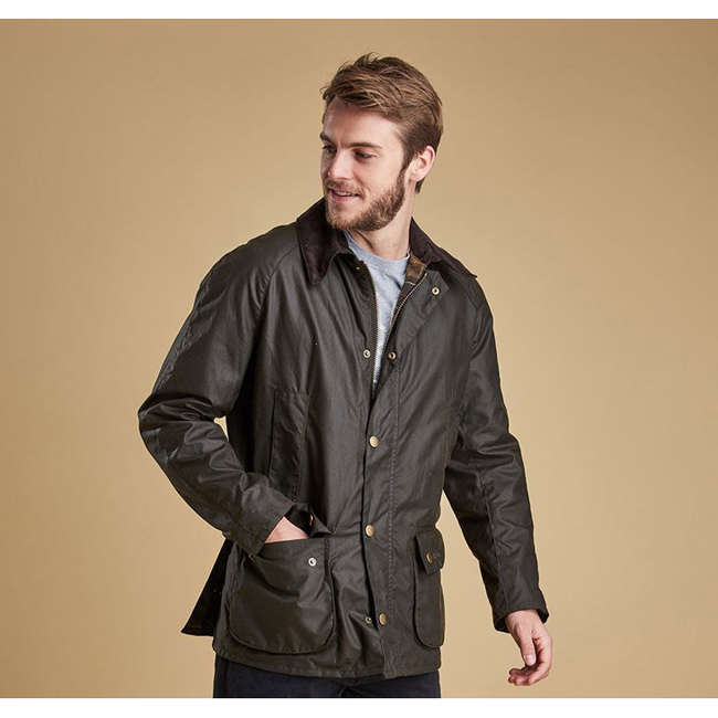 Barbour Men ASHBY WAX JACKET Olive Sale