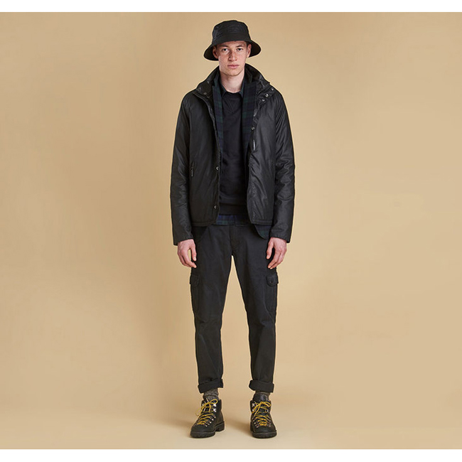 Barbour Men SEVEN BELL WAX JACKET Black Sale