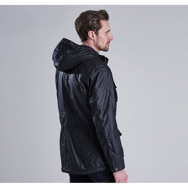 Barbour Men B.INTL V TECH WAX PARKA JACKET Black Sale