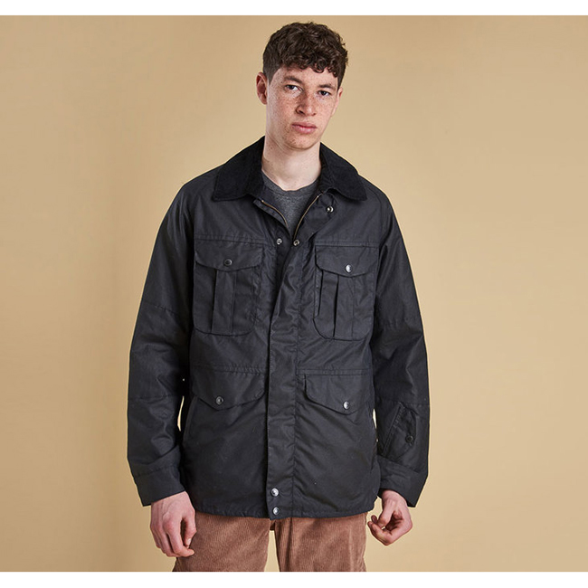 Barbour Men CRUX WAX JACKET Navy Sale