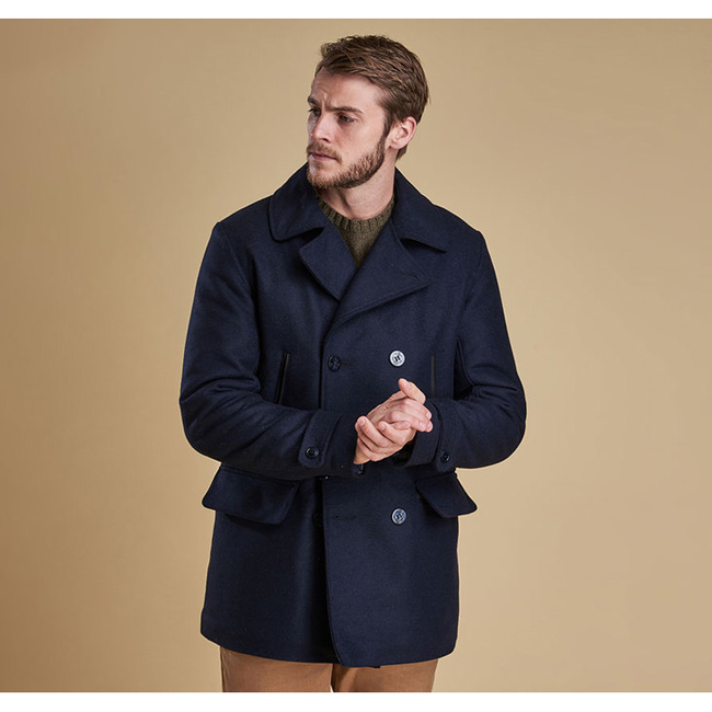 Barbour Men BATTEN WOOL JACKET Navy Sale