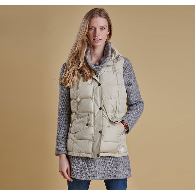Barbour Women LANDRY GILET Ecru Sale