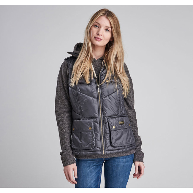 Barbour Women B.INTL CHICANE QUILTED GILET Ash Grey Sale
