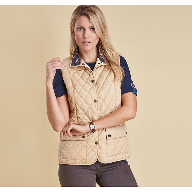 Barbour Women SADDLEWORTH QUILTED GILET Pearl Sale