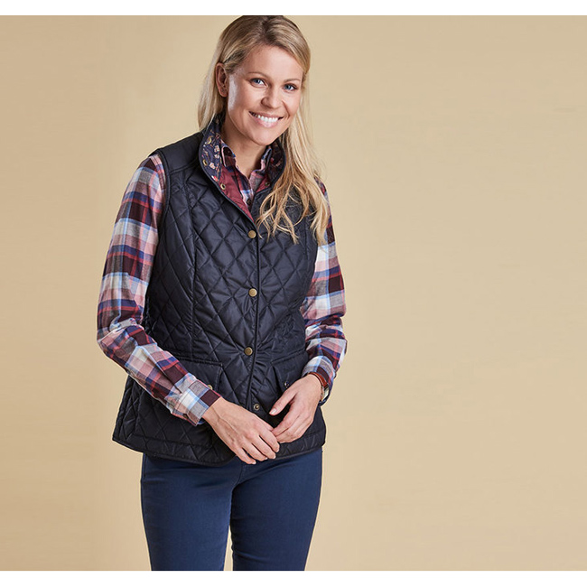 Barbour Women SADDLEWORTH QUILTED GILET Navy Sale