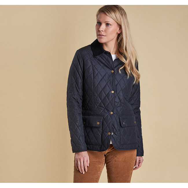 Barbour Women SADDLEWORTH QUILTED JACKET Navy Sale