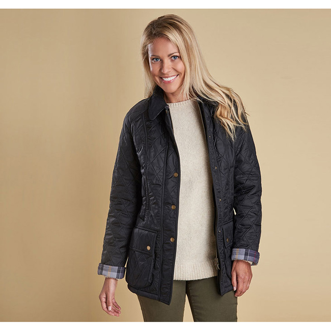 Barbour Women BEADNELL POLARQUILT JACKET Black/Black Sale
