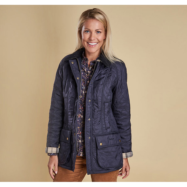 Barbour Women BEADNELL POLARQUILT JACKET Navy/Navy Sale