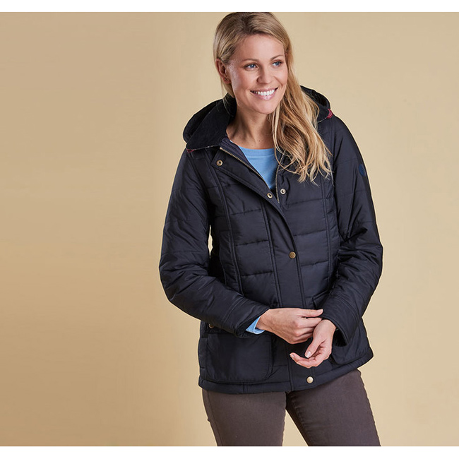 Barbour Women ILKLEY QUILTED JACKET Navy Sale