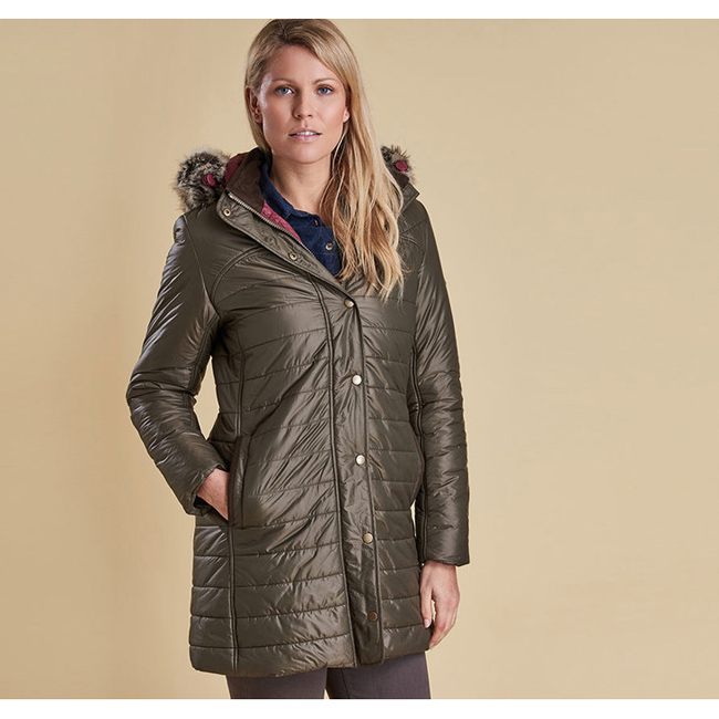 Barbour Women ROSSENDALE QUILTED JACKET Olive Sale