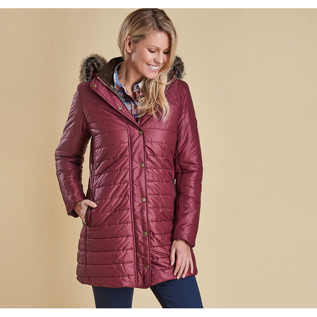 Barbour Women ROSSENDALE QUILTED JACKET Burgundy Sale