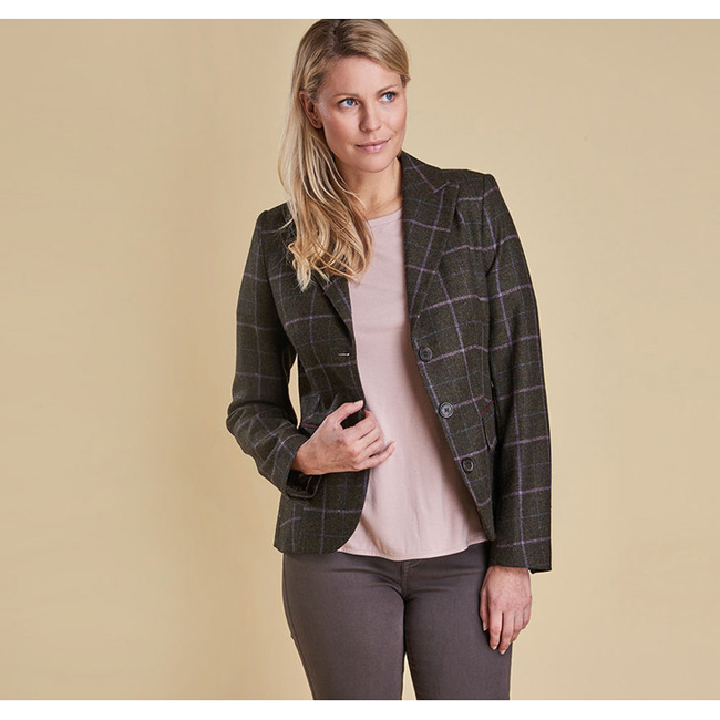 Barbour Women ASTER TAILORED TWEED JACKET Olive Sale