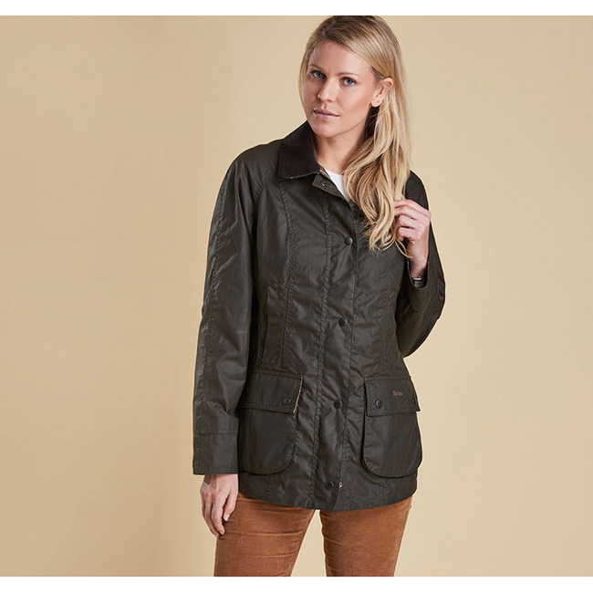 Barbour Women CLASSIC BEADNELL WAX JACKET Olive  Sale
