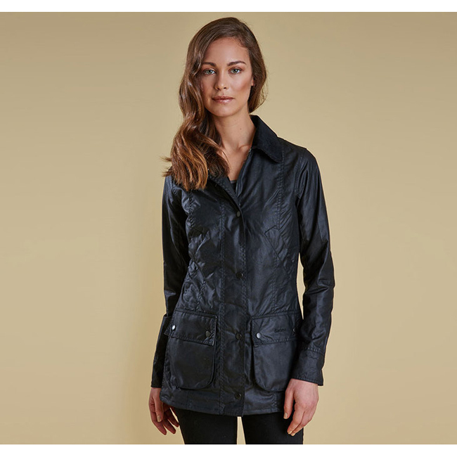 Barbour Women STRAITON WAX JACKET Black Sale