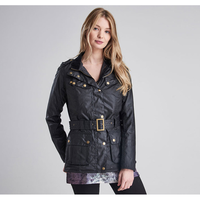 Barbour Women B.INTL GOLDWING WAX JACKET Black  Sale