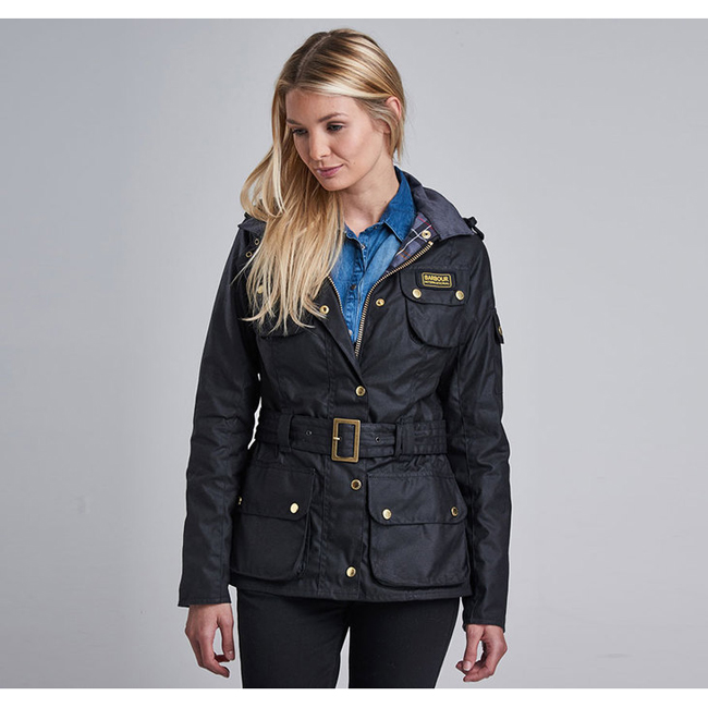Barbour Women B.INTL LADIES INTERNATIONAL WAX JACKET Black Sale