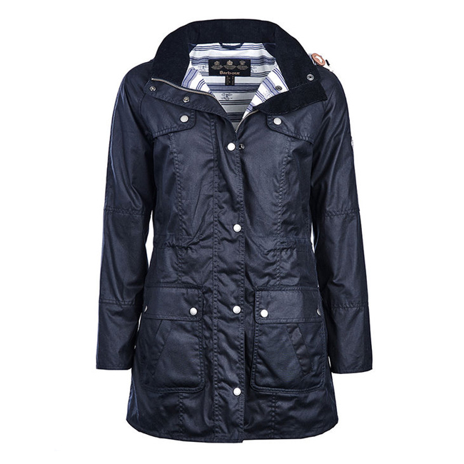 Barbour Women BARNACLE WAX JACKET Navy  Sale