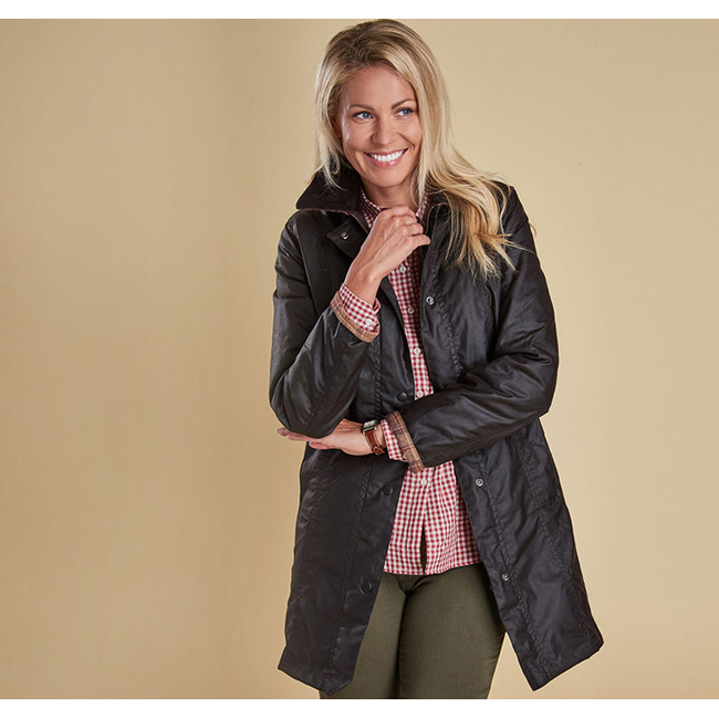 Barbour Women BELSAY WAX JACKET Rustic Sale