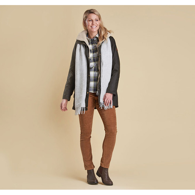 Barbour Women BLEAKLOW WAX JACKET Olive Sale
