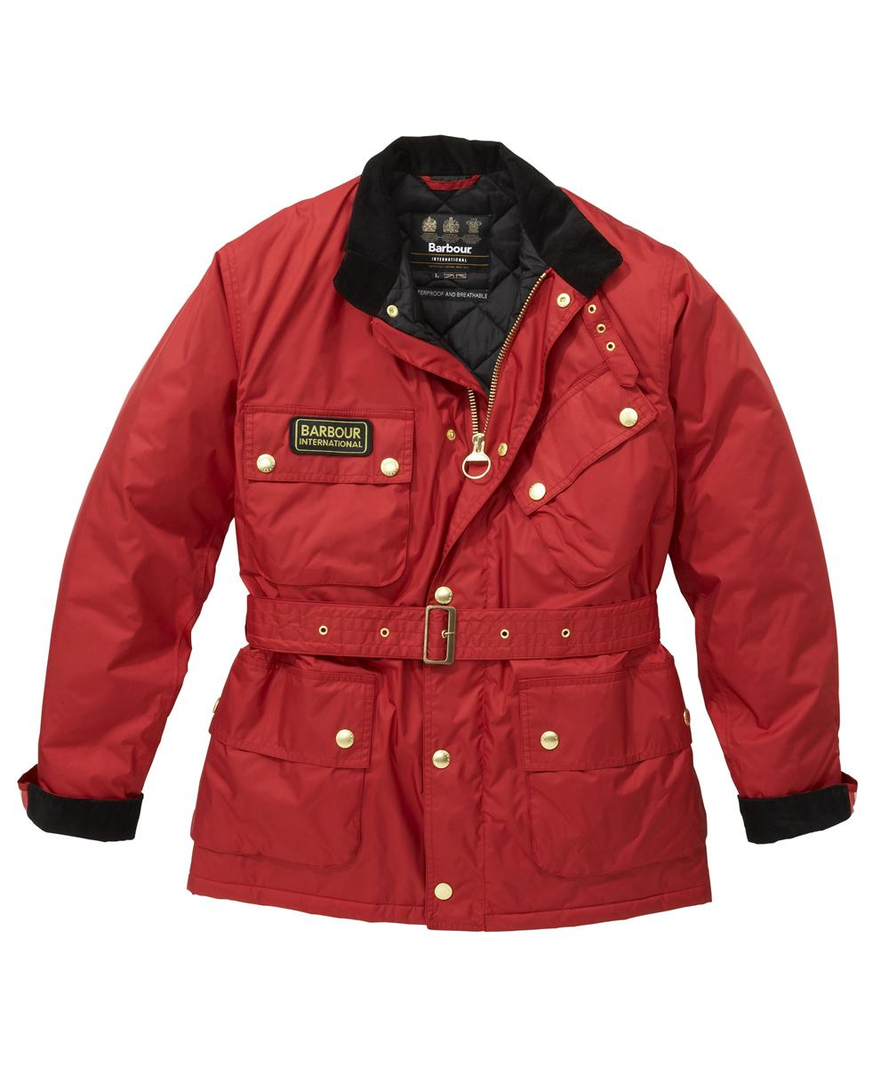 Cheap Mens Barbour Lightening Waterproof Jacket Chilli Red