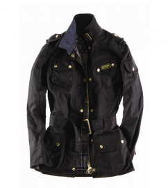 Cheap Barbour Ladies International Waxed Jacket Black