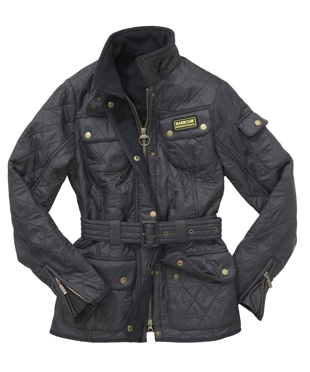 Cheap Barbour Ladies International Polarquilt Jacket Navy