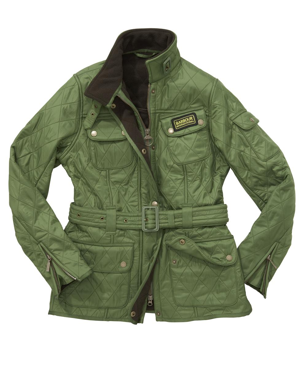 Cheap Barbour Ladies International Polarquilt Jacket Turf Green