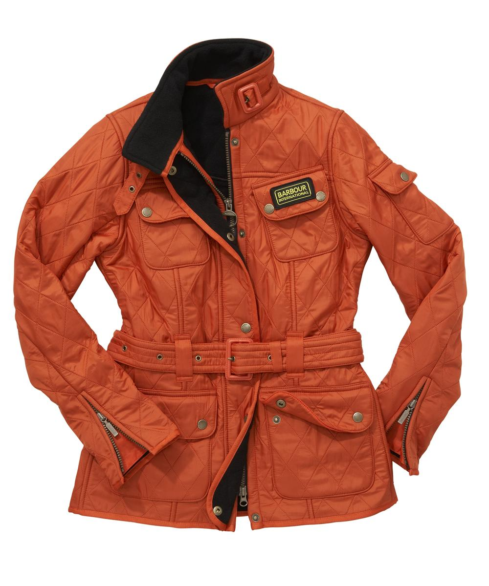 Cheap Barbour Ladies International Polarquilt Jacket Orange
