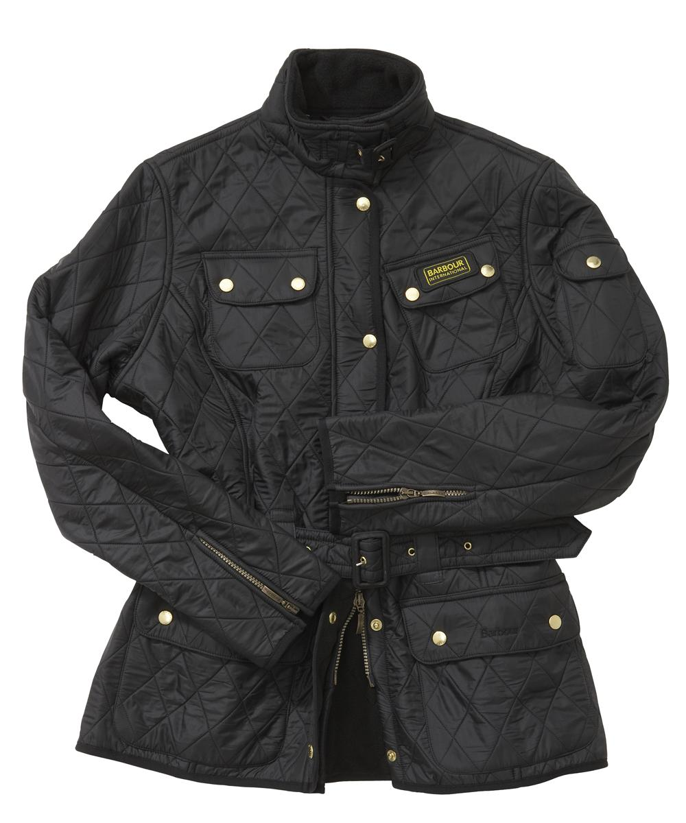 Cheap Barbour Ladies International Polarquilt Jacket Black