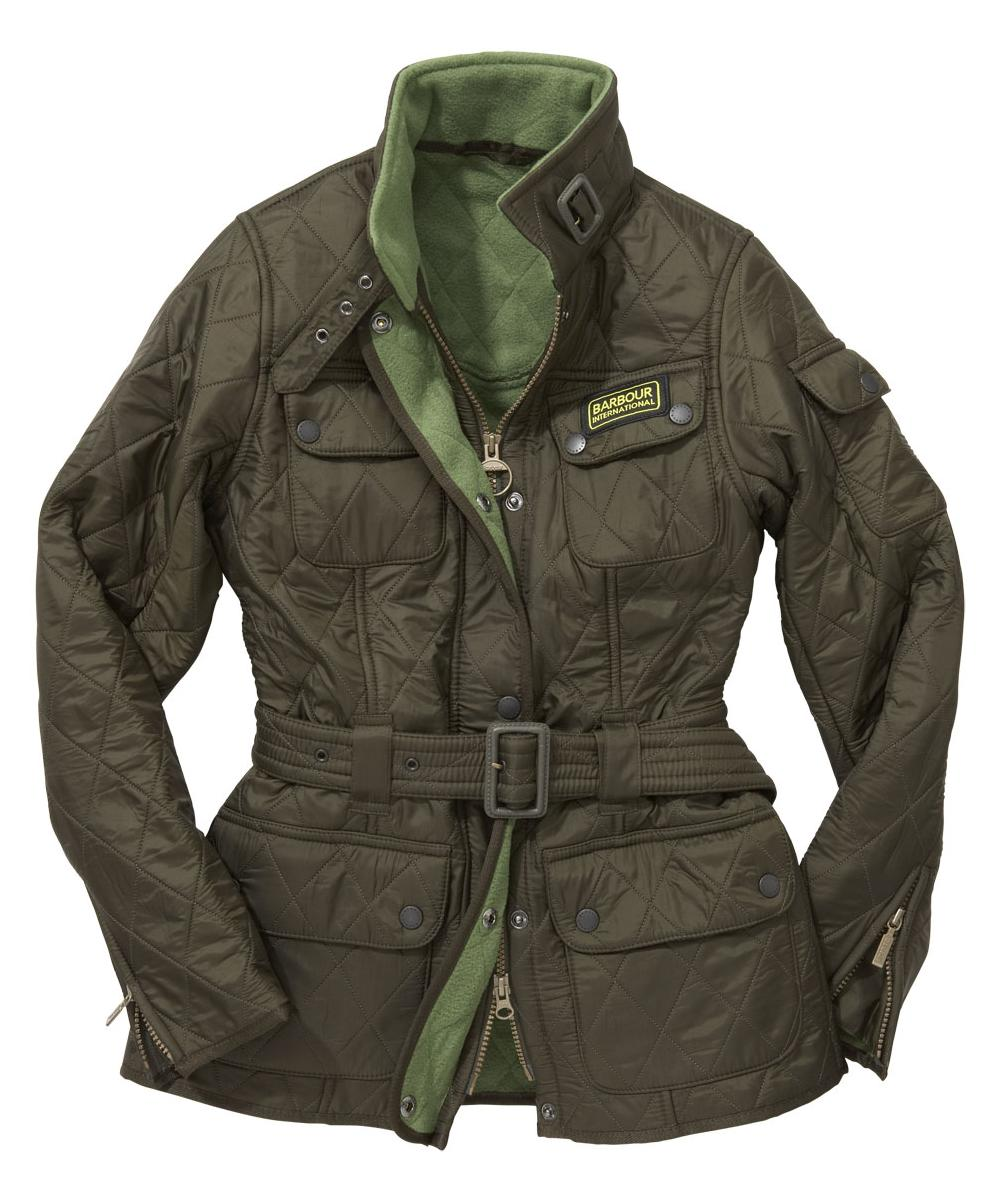 Cheap Barbour Ladies International Polarquilt Jacket Olive | Turf