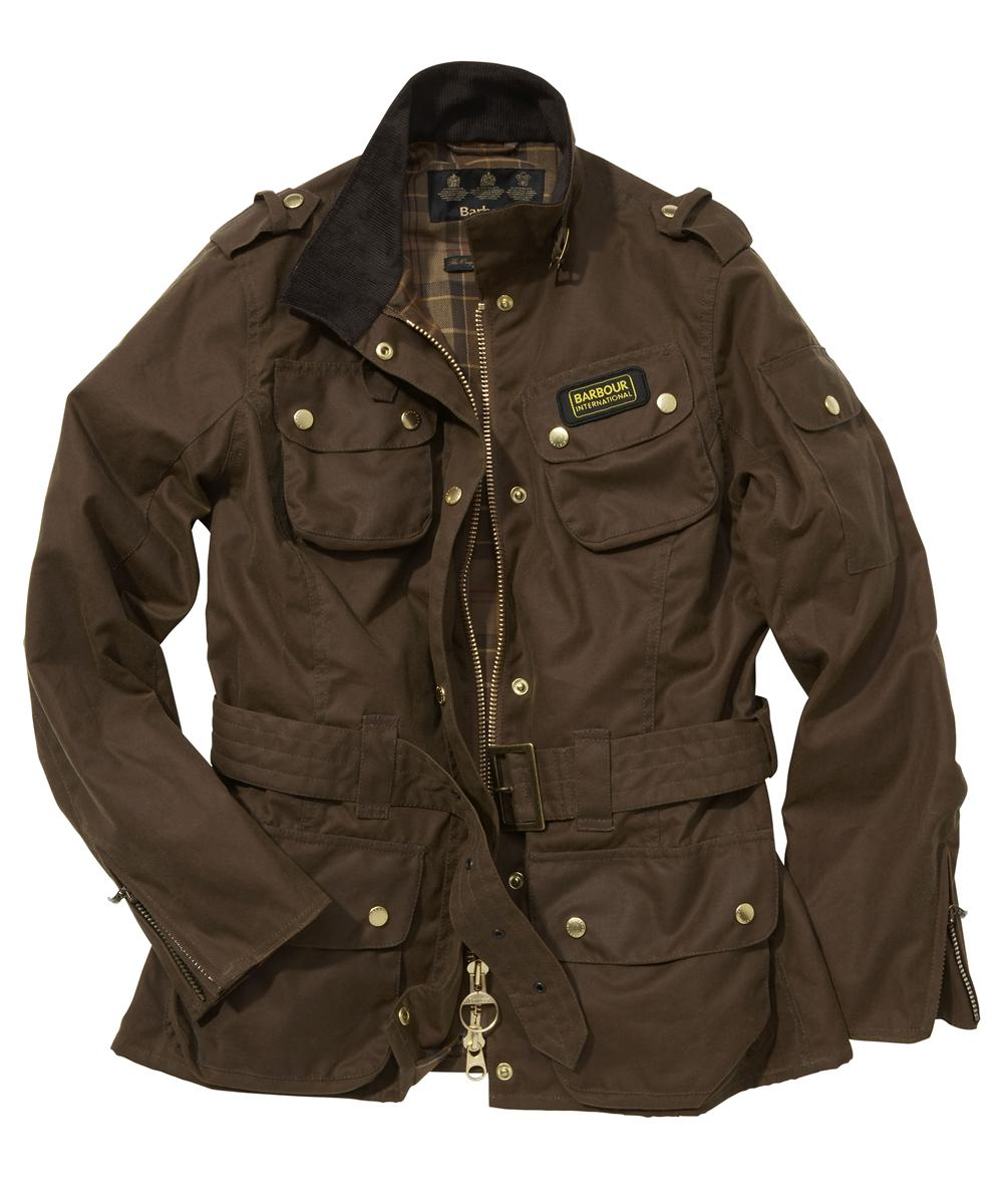 Cheap Barbour Ladies International Waxed Jacket Sandstone