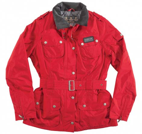 Cheap Barbour Rainbow International Jacket Chilli Red