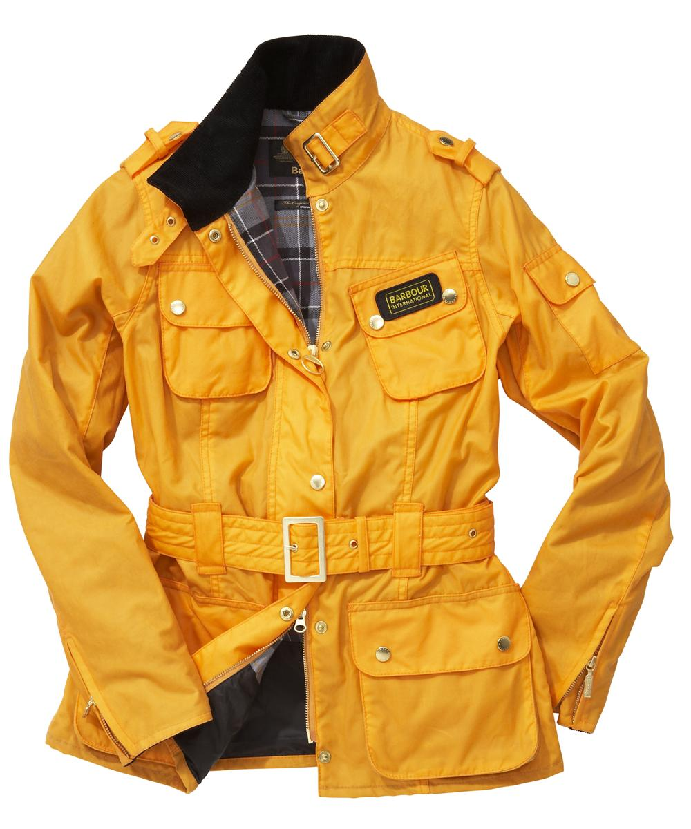Cheap Womens Barbour Summer Waxed International Jacket - Yellow