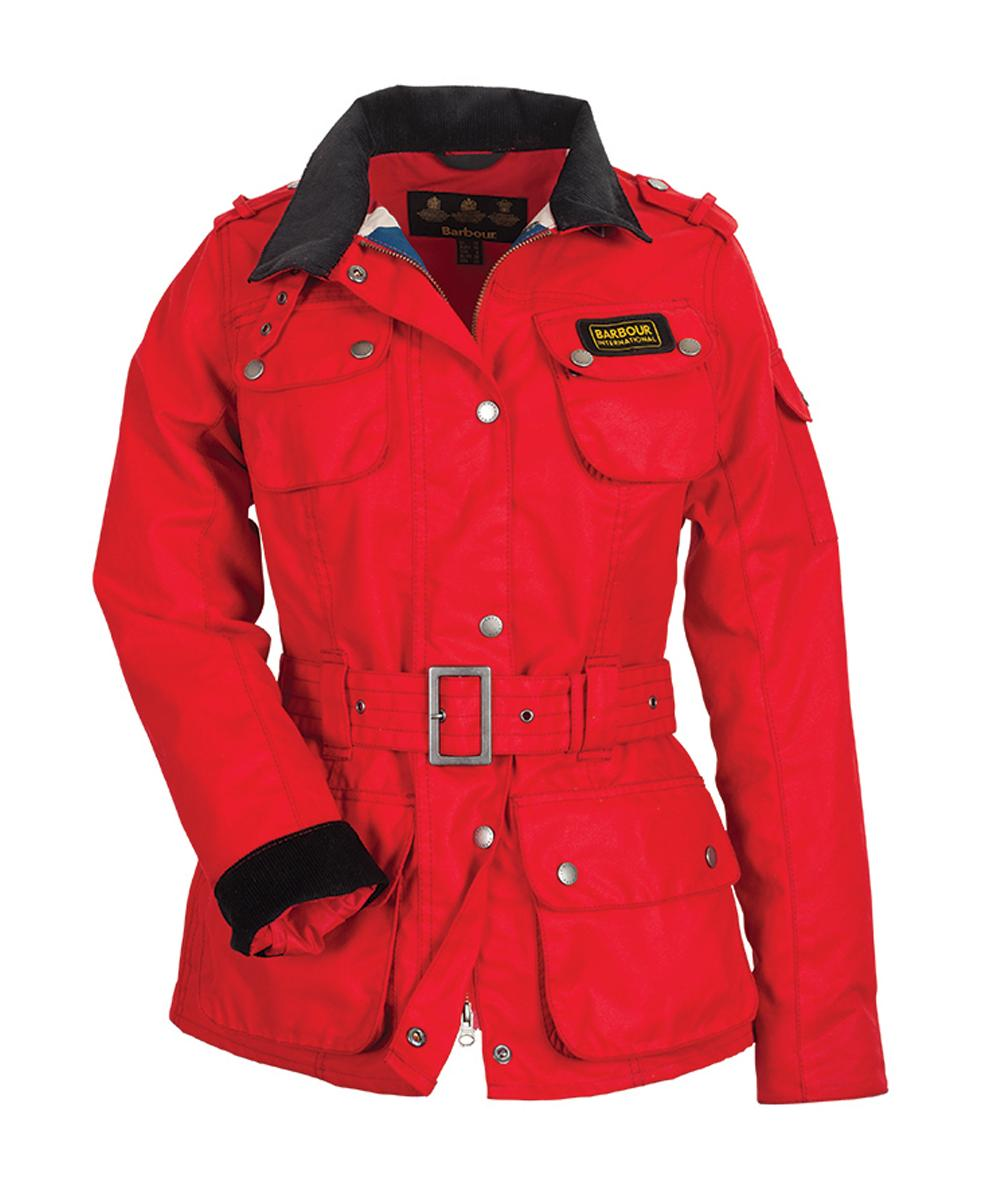 Cheap Barbour Ladies Union Jack International Jacket - Red